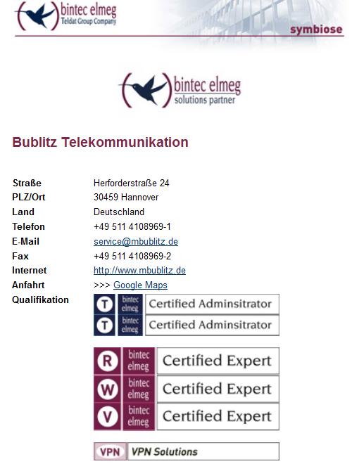 telekommunikation Zertifizierung