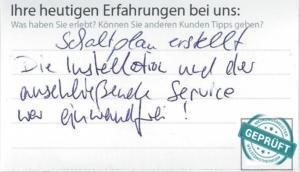 Original- Kundenbewertungsbogen der Deutsche Ärzte Finanz Beratungs- und Vermittlungs-AG